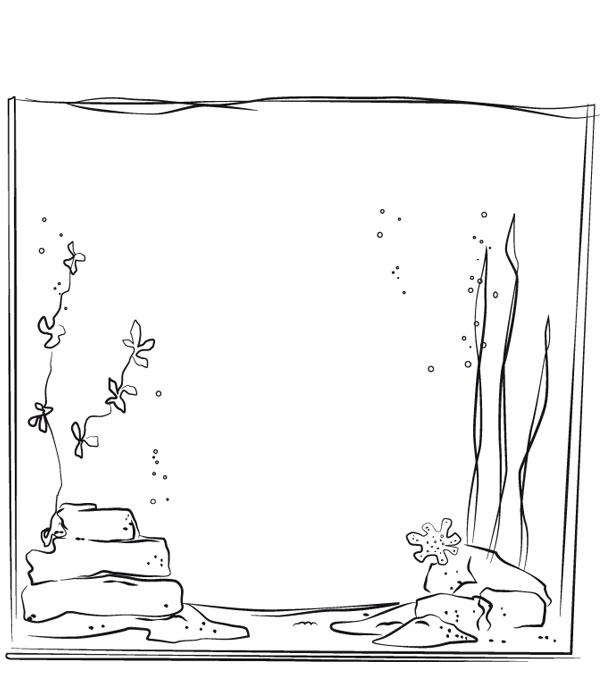 L aquarium - Dessin d animaux marins ...