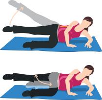 Exercices musculaires de fesses