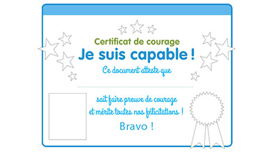 Certificat de courage