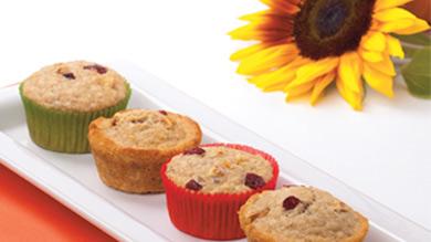 Muffins à la citrouille et aux raisins