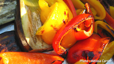 Festin de légumes grillés