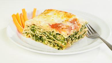 Lasagne florentine végétarienne