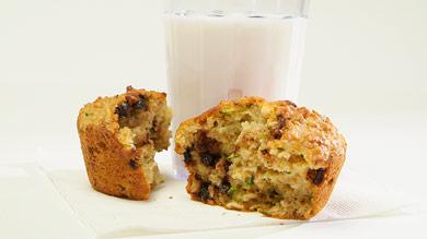 Muffins aux courgettes et au chocolat