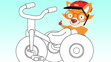 Un tricycle à décorer