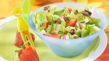 Salade aux fraises et au chocolat