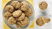 Biscuits à l'avoine et aux bananes
